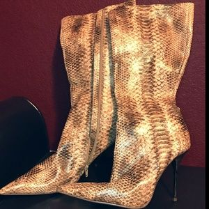 Faux Snake Skin Boot Size 10